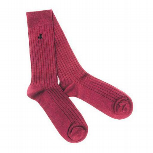 Bamboo Burgundy Socks